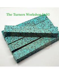 Acrylic Turquoise Granite Pen Blank