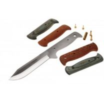 Knife Kit :: 13.5cm 440 Steel comes with Laminated and Pearl Wood Scales