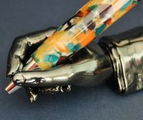 The Writers Hand Black Titanium Plated Pen Stand