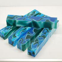 Blue Sea Green Pen Blank