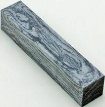 "Black & White Lava Pen Blank 5/8"" x 3"""