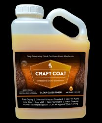 Craft Coat / Gallon - Water Based Exotic Wood Finish