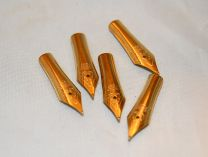 5 x 26mm Gold Plated Fountain Pen Nibs