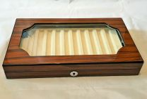 10 Pen Piano Finish Rosewood Display Chest