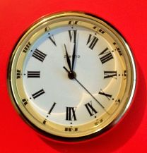 R35 QUARTZ CLOCK INSERT 35MM SOLID BRASS