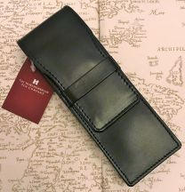 Double Black leather Pen Case