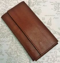 3 X Pen Tan Leather Flap Case