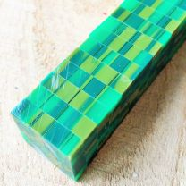 Green & Olive Mosaic Pen Blank
