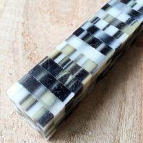 Silver & Black Mosaic Pen Blank