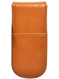 Aston Leather Italian Style 3 Pen Box Tan