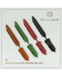 Green Jowo Compatible Ebonite Nib Units