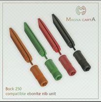 Red Bock Compatible Ebonite Nib Units