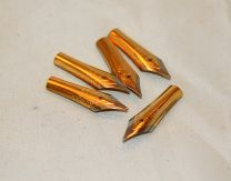 5 x 26mm Two Tone Gold Plated Fountain Pen Nibs